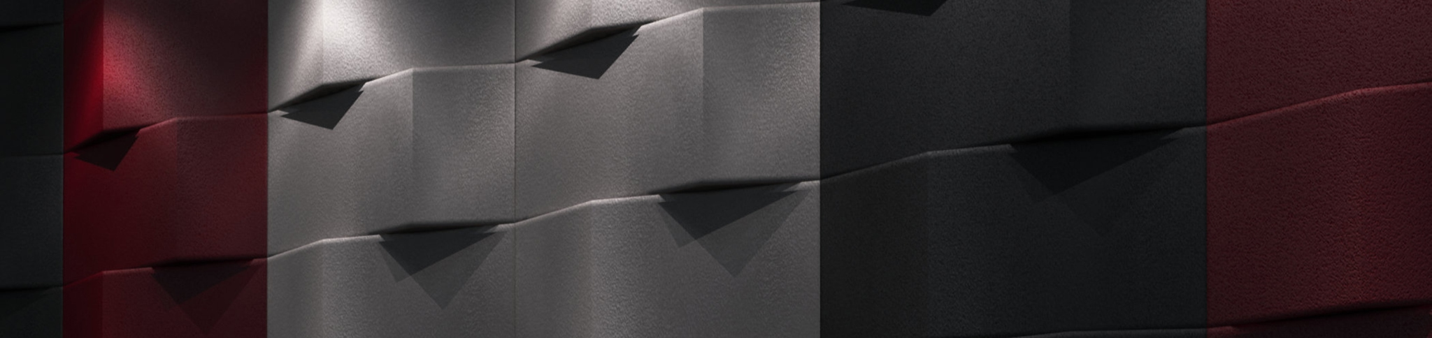 Artnovion Black & Red Acoustic Wall Panels