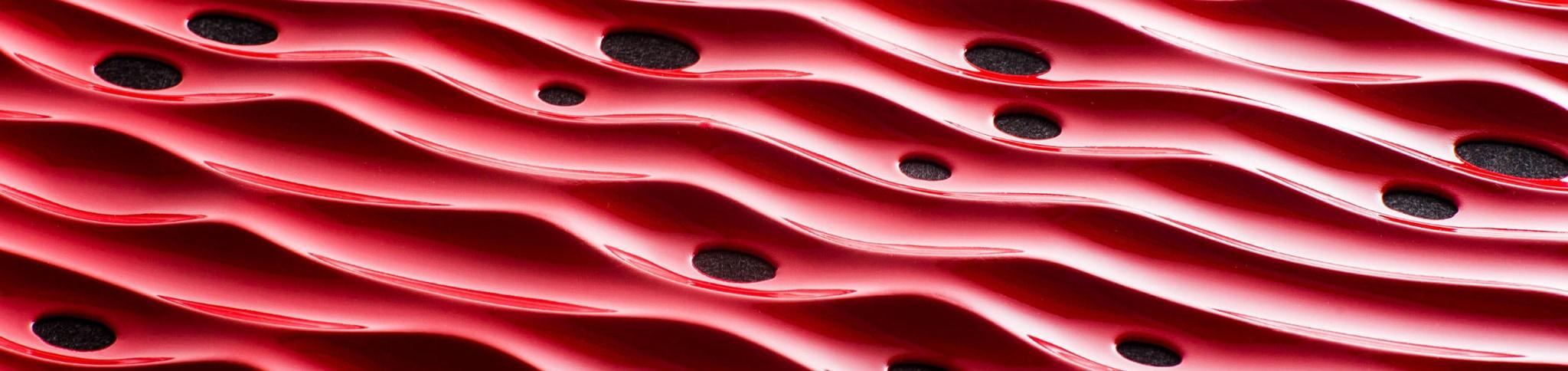 Artnovion Red Wavy Acoustic Wall Panels