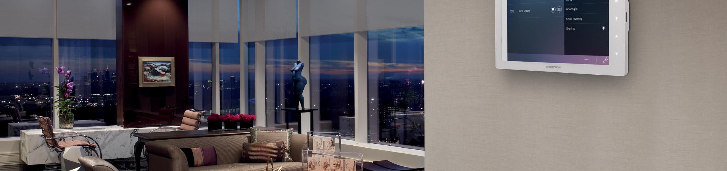 roller blinds in luxury living room