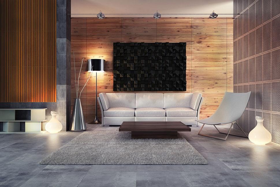 Artnovion black designer acoustic panels on wall