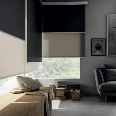 Sheer and blackout dual roller shades