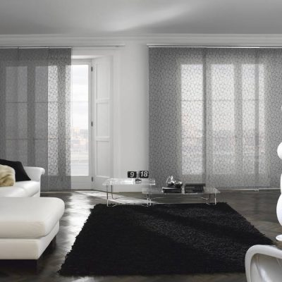 Luxury living room with Italian shades