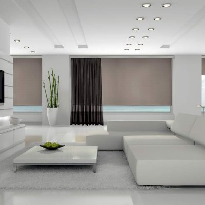 luxury-roller-blind-with-a-curtain-in-living-room